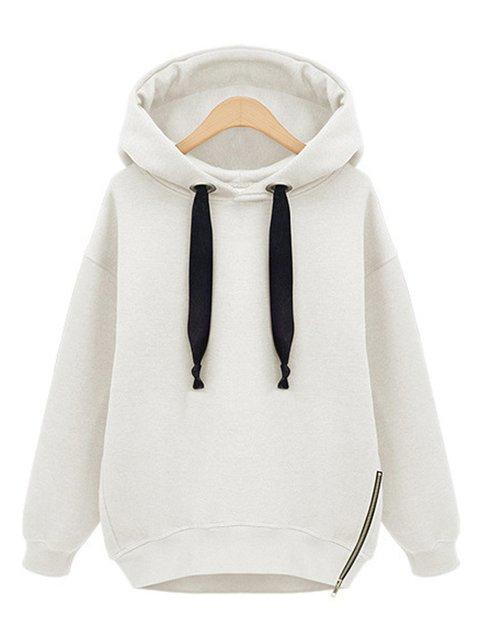 Long Sleeve Zipper Casual Hoodie