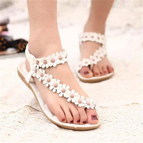 Flowers Women's Slip-On Sandals
