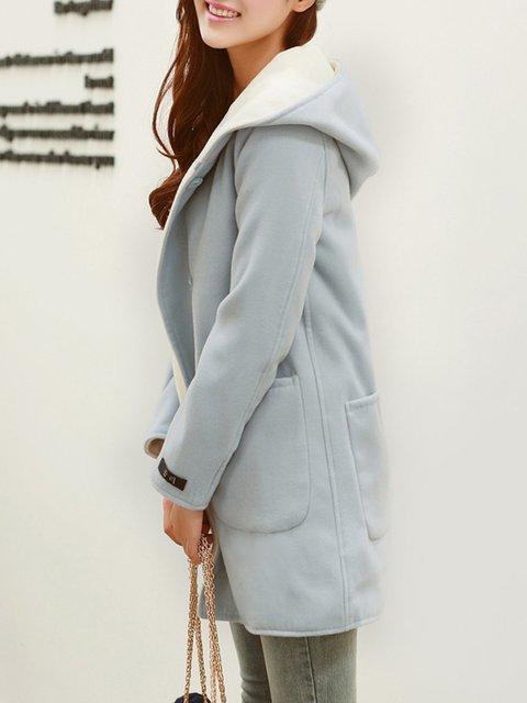 Pockets Hoodie Casual Pockets Casual Plain Coat 5f8PqnY