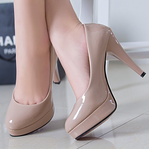 Stiletto Heel Slip-On PU Women Pointed Toe Pumps