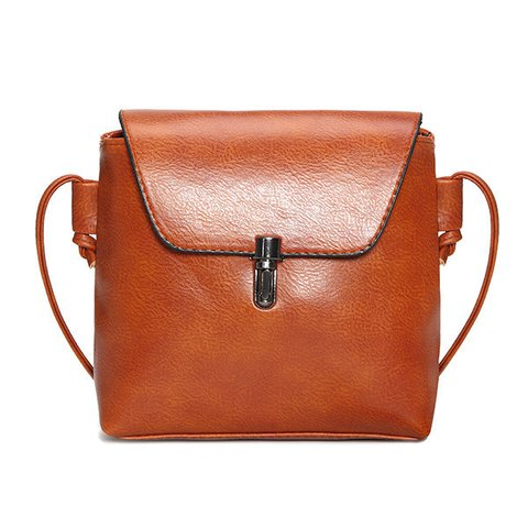 Women Vintage Square Crossbody Phone Purse PU Leather Crossbody Bag