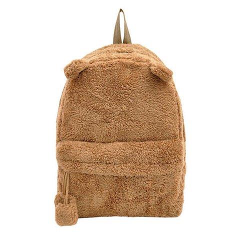 Women Plush Panda Pattern Shape Handbag Lovely Cute Backpack