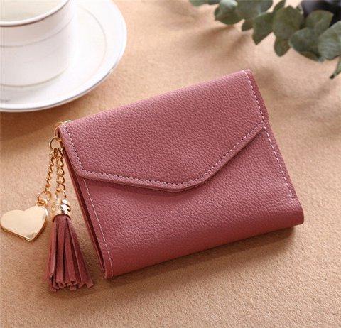 Chic Tassel Short Wallet Purse Card Holder