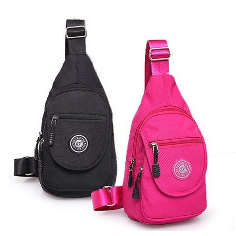Women Nylon Lightweight Outdoor Chest Bag Sport Travel Crossbody Bags