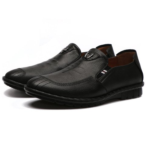 Men Soft Microfiber Leather Low-top Slip On Shoes