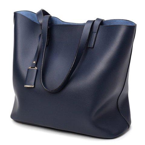 Women Elegant 2 PCS High-end PU Leather Tote Bag Handbag Shoulder Bag