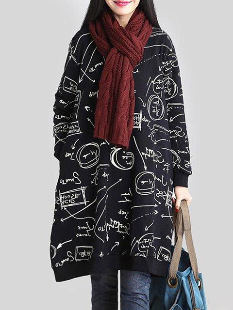 Long Sleeve Polyester Statement Hoodies  Sweatshirt