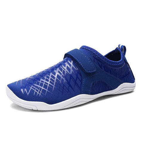 Men Elastic Cloth Slip Resistant Hook Loop Casual Sneakers