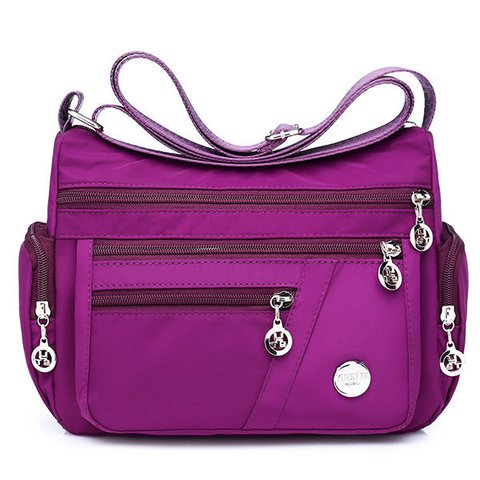 Ladies Nylon Waterproof Crossbody Bags Travel Multi-Pocket Messenger Bags