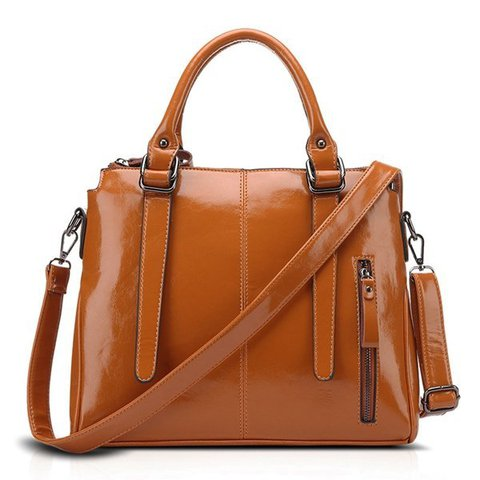 Women Oil Leather High-end Retro Crossbody Bag Dating Handbag
