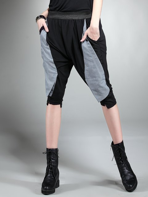Black Sports Pockets Track Pants