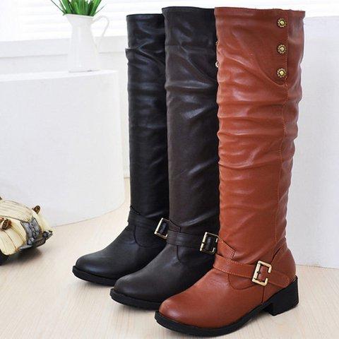 Women Plus Size Booties Vintage Shoes