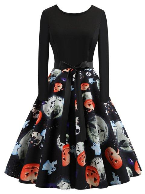 Elegant Long Sleeve Dresses Halloween