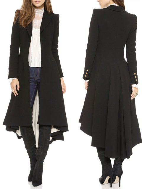 Shawl Collar Elegant Solid Coat