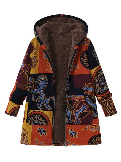 Vintage Cashmere Tribal Long Sleeve Coats
