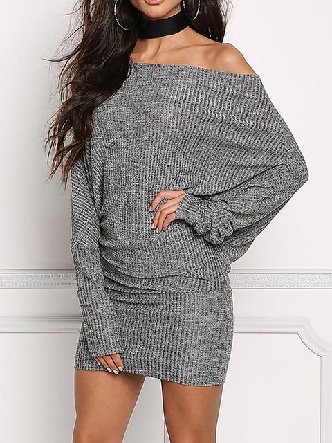 Gray Women Spring Dresses Bodycon Going Out Paneled Plaid Dresses