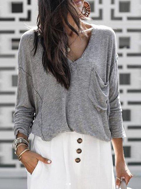 Acrylic Casual Long Sleeve Sweater