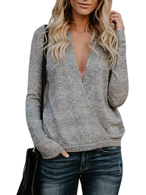 Solid Elegant Acrylic Sweater