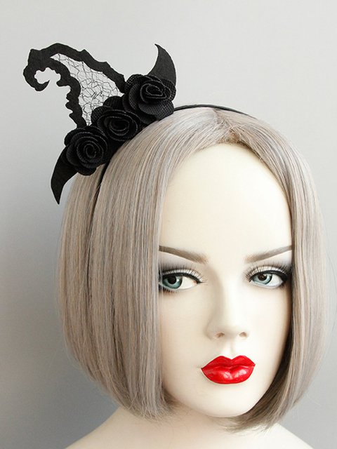 Masquerade Witch Hat Halloween Head Ornament