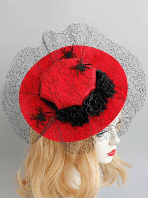 Mesh Spider Halloween Makeup Party Performance Hat Vampire Hat Hair Accessories