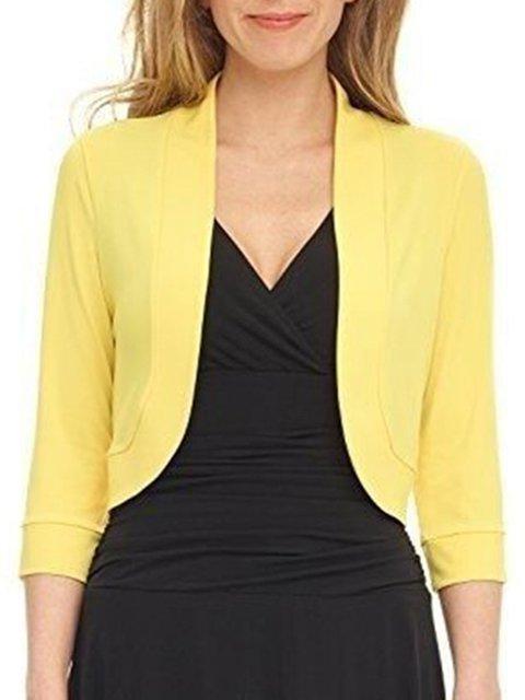 Long Sleeve Elegant Solid Lapel Blazers