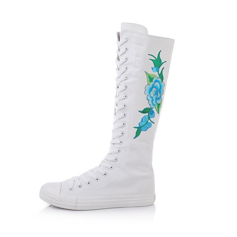Women's Embroidery Size Zipper Winter Boots