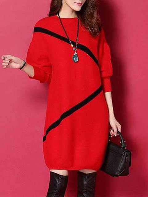 Crew Neck Women Casual Dresses Shift Going Out Dresses