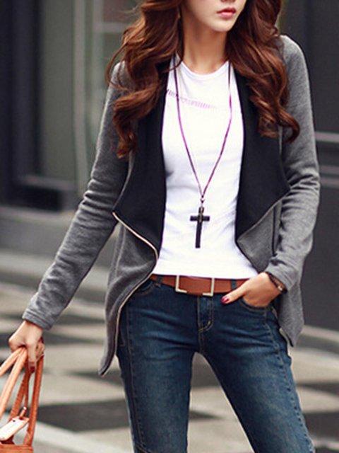 Zipper Casual Long Sleeve Jacket