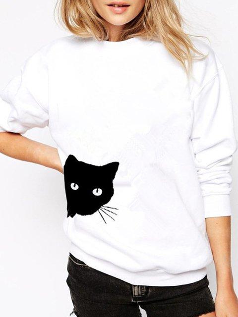 Animal Cotton Long Sleeve Sweet & Cute Sweatshirts