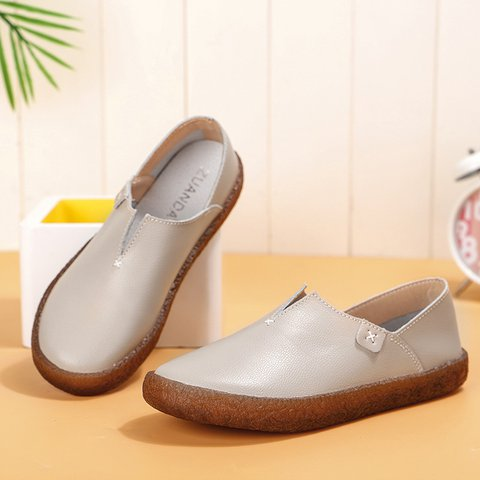 Women Pu Loafers Booties Casual Shoes