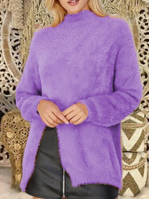 Turtle Neck Knitted Long Sleeve Sweet Sweaters