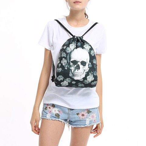 Women Printed Skull Casual Halloween Messenger Bags