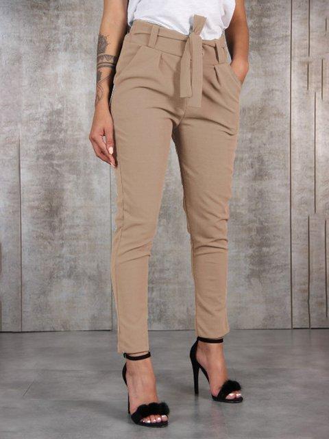 Elegant Cotton-Blend Pants with Belt