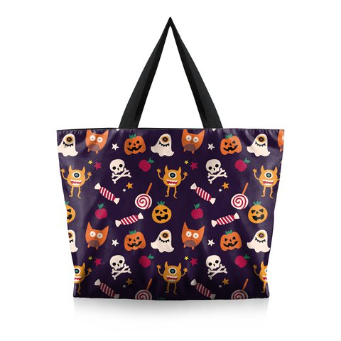 Women Fashion Printed Canvas Halloween Travel Bags