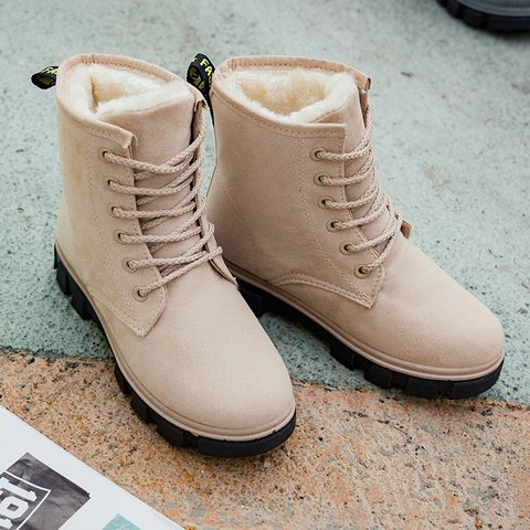 Women Warm Flocking Booties Casual Shoes