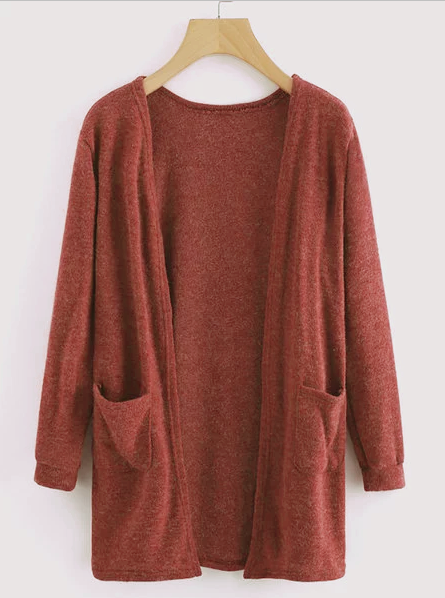 Long Sleeve Knitted Casual Solid Cotton Cardigans