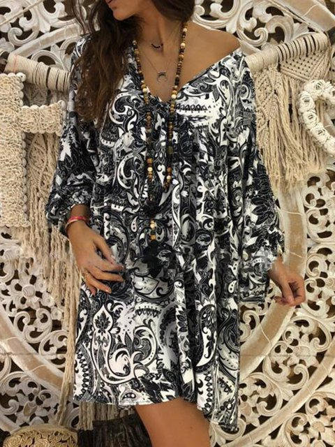 Women Floral Dresses Shift Daily Printed Dresses