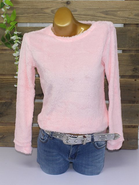 Crew Neck Casual Baisc Jumper Sweaters With More Optional Colors