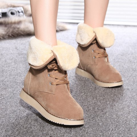 Women Flocking Boots Casual Shoes