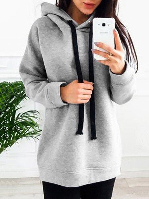 Knitted Long Sleeve Boyfriend Oversized Women's Warm Hoodies