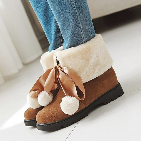 Women Cute Plus Size Snow Booties Casual Shoes