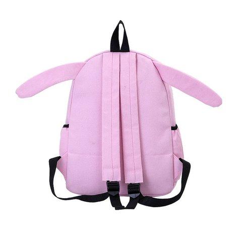 Women Canvas Cute Rabbit Cat Bear Cartoon Backpack Students Cute Schoolbag