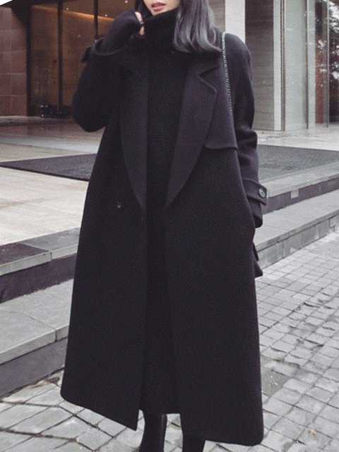 Black suit pear Hooded Plain Basic Outerwear houston