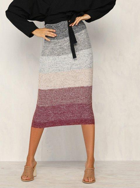 Purple Women Dresses Daily Casual Striped Dresses