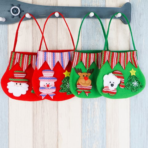 Christmas Decoration Color Non-woven Candy Food Small Portable Gift Storage bag