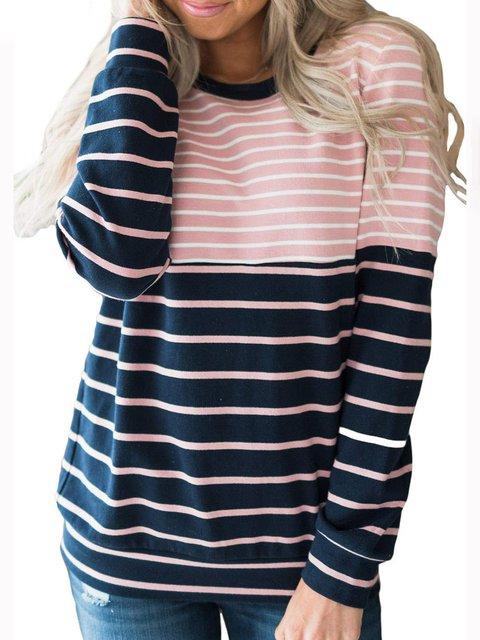 1aee28c10e4b92 3 Colors Stripes Simple   Basic Stripes Pullover Jumper Sweatshirts -  JustFashionNow.com
