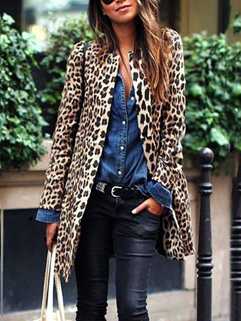 Leopard Long Sleeve Blazers