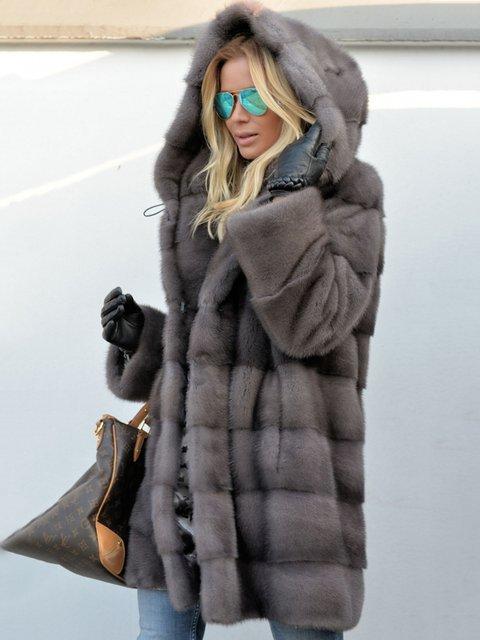 8fc5cd50ac Royal Mink Furs Coat Vintage Pockets Hoodie Faux Fur Coats ...