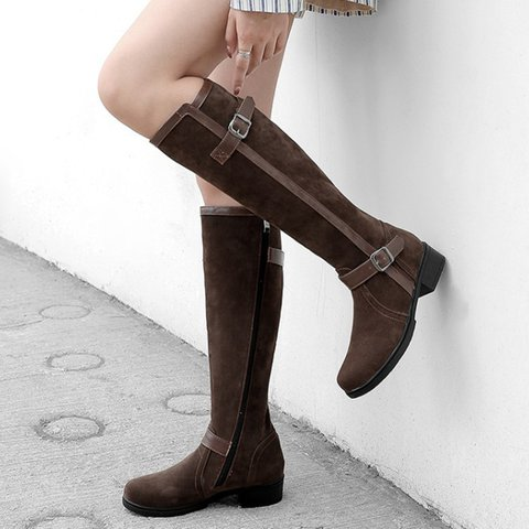 Women Casual Knee Height Zipper Knight Boots