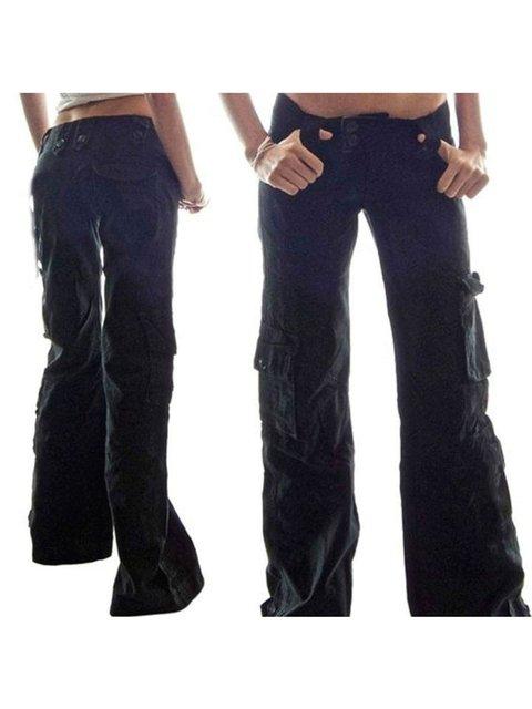 4 Colors Plus Size Solid Vintage Zipper Cotton Pants